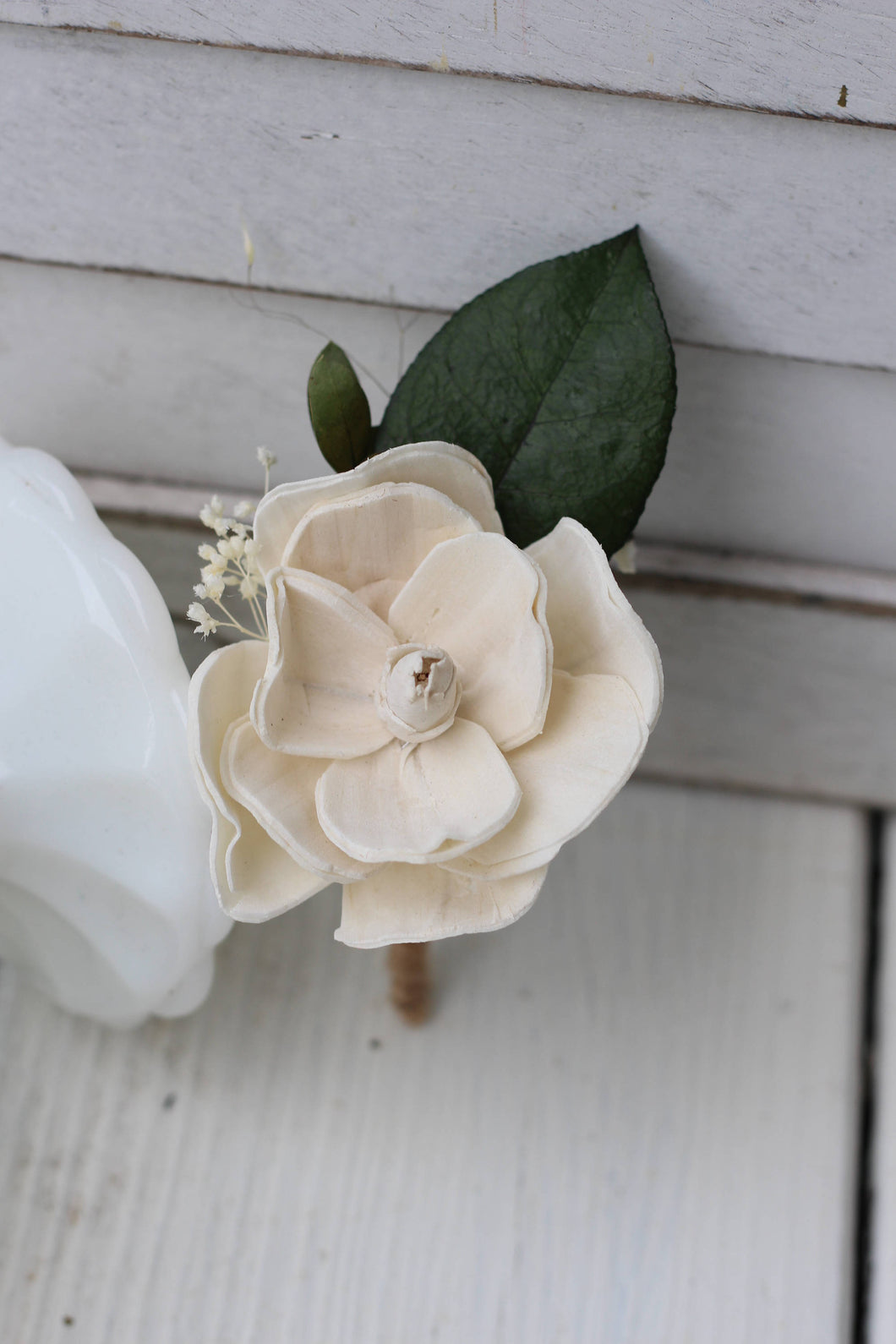 sola magnolia, Sola flowers,boutonniere, buttonhole, rustic, wedding flowers, rustic wedding, groomsmen, groom, groom flower