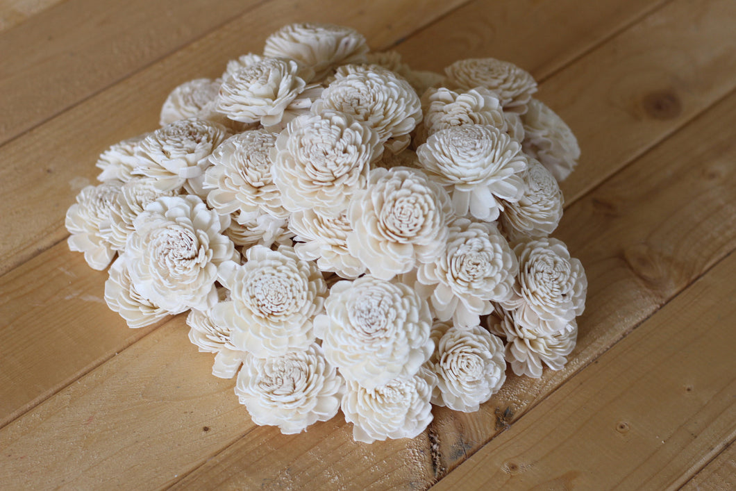 Wholesale/Bulk Wood Sola Bali Flowers 2