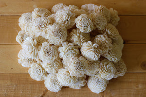 Wholesale/Bulk Wood Sola Bali Flowers 2""