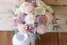 Mauve Blush pink Sola Wood Bouquet,  Pink Sola Wood Bouquet, Pink Bouquet, Burgundy, Blush Pink, and Ivory Bouquet, wedding bouquet