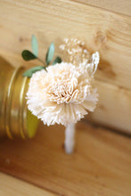 Groomsman boutonniere, groom boutonniere, sola flowers, rustic wedding, country wedding,peach boutonniere, boutonniere, peach wedding