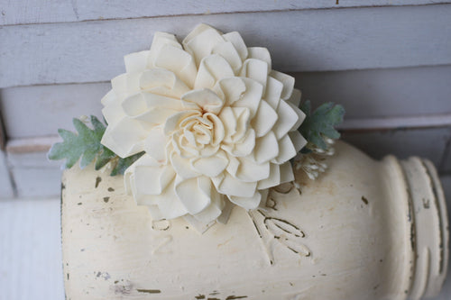 Sola flower hair clip, wedding hair clip, , dahlia hair clip, crown