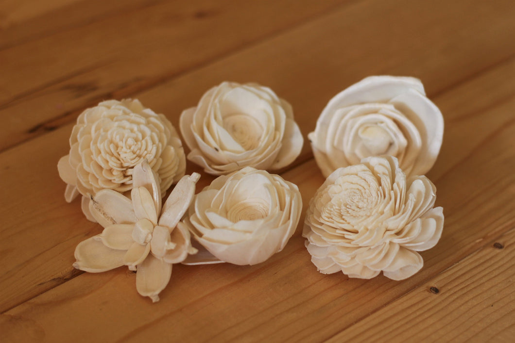 Assorted Mixed Sola Wood Flowers 2