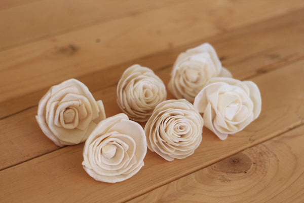 Assorted Sola Wood Rose Flowers
