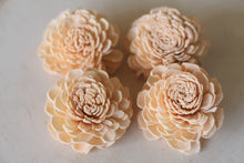 Peach Sola Wood Bali Flowers ( Set of 12 )
