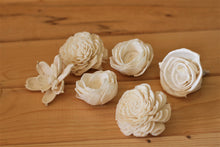 "Assorted Mixed Sola Wood Flowers 2"" - 2.5"" - Set of 12"
