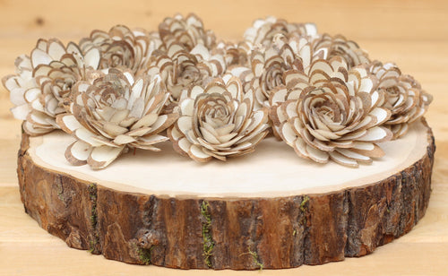 Wholesale/Bulk  Sola Wood Almond Flowers 2.5