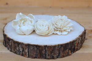 Assorted Sola Wood Flowers -  Loose Flowers - Wooden Flowers - DIY Bride