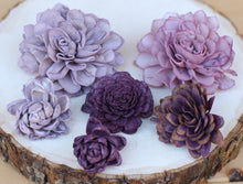 Purple Sola Wood Succulents