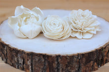 "Assorted Sola Wood Flowers  2"" - 3""   - Set of 12"