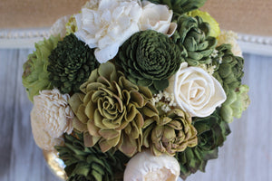 Succulent Sola Flower Bouquet, Made to Order Wedding Bridal Bouquet