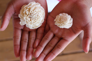 Sola Wood Flower Samples in Your Color Choice, Bouqet sample flowers