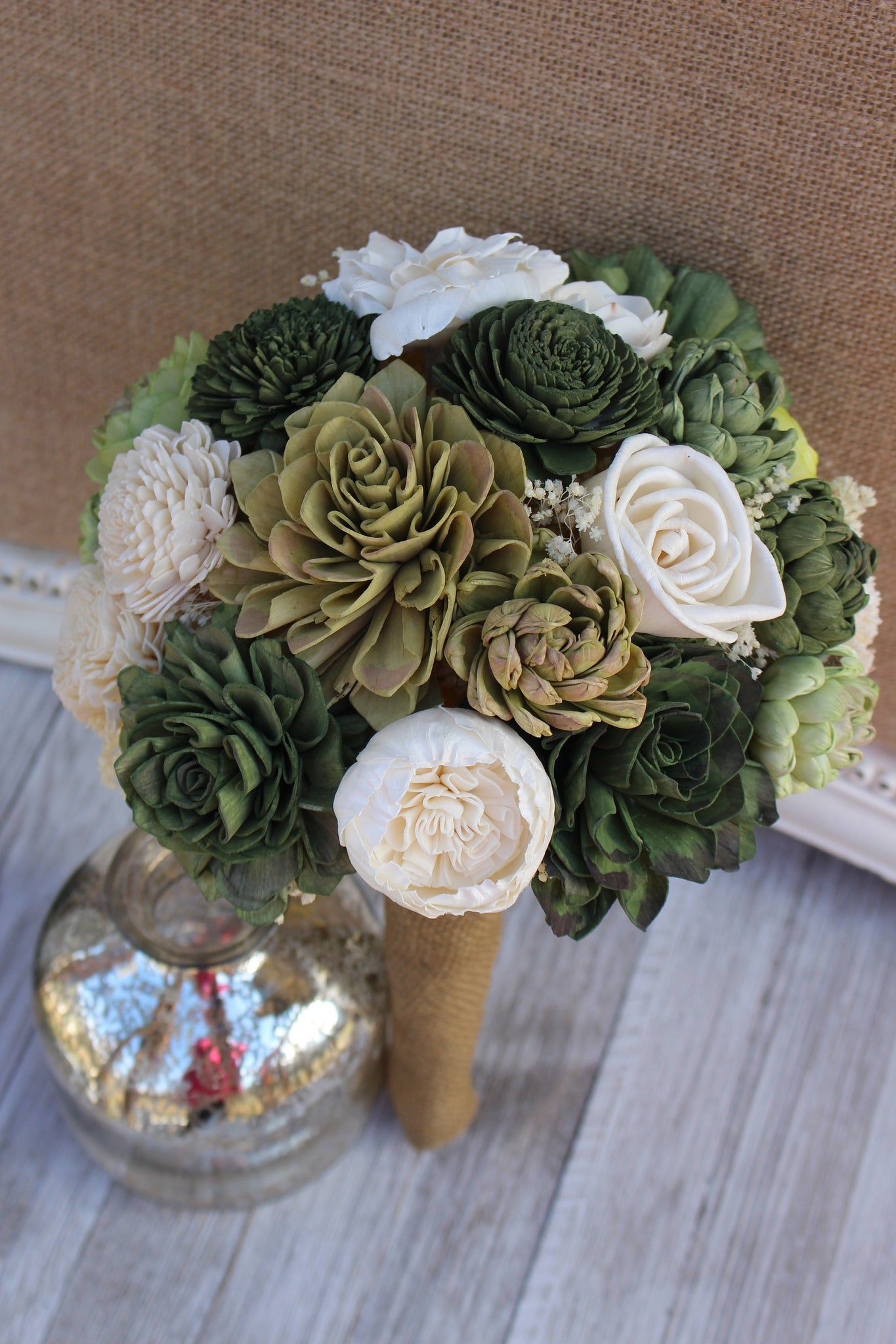 Succulent Sola Flower Bouquet Made To Order Wedding Bridal