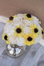 Yellow Sunflower Ivory Sola Wood Artificial Flower Bridal Bouquet