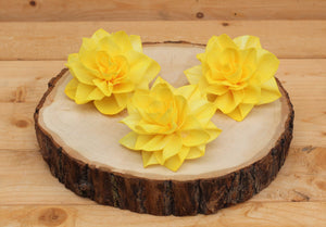 "Yellow Sola Wood Tiger Lily 4"" ( Set of 3 )"