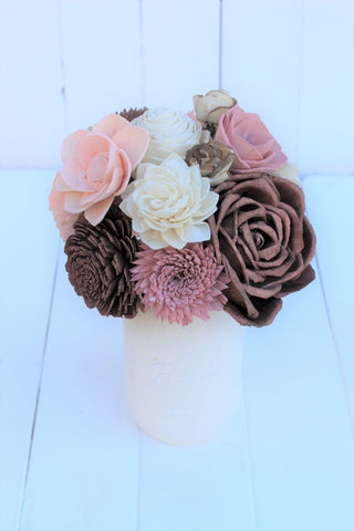 Rose Gold Sola Flower Centerpiece Arrangement