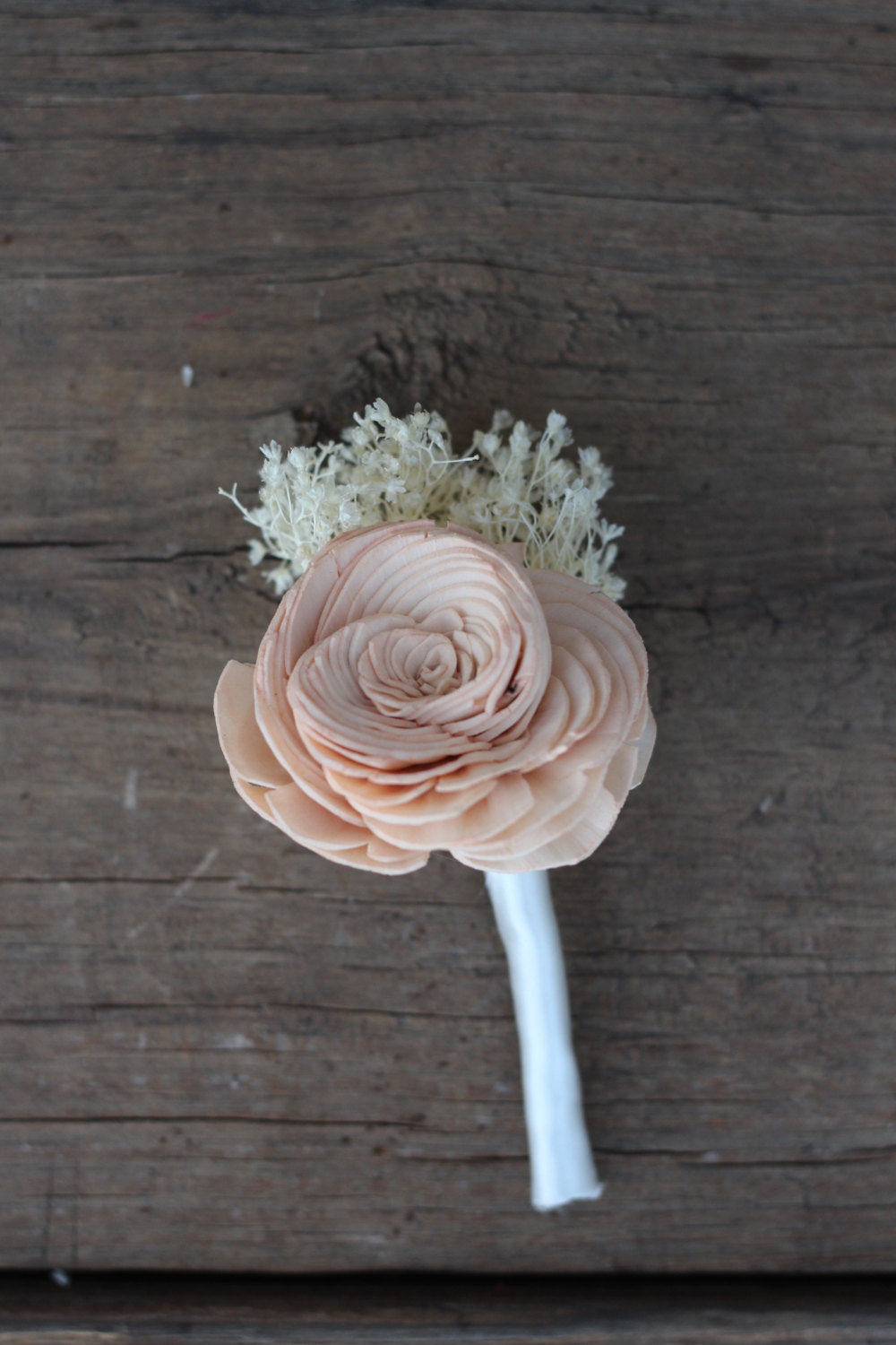 Peach Boutonniere, Groomsmen, Groom Boutonniere, Buttonhole