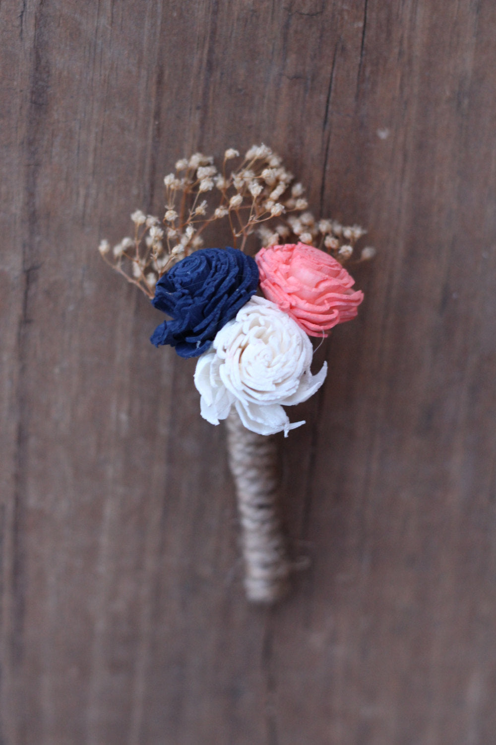 Navy Blue Coral Boutonniere, Navy Coral buttonhole, blue coral boutonniere, wedding flowers