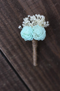 Light Mint green Boutonniere