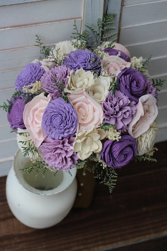 Purple and Pink Sola Bouquet