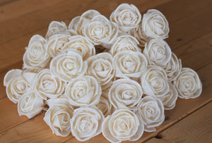 "Wholesale /Bulk Sola Wood Premium Roses 2.5"" ( 50 count )"