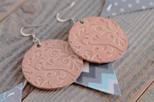 Flourish Leather Earrings