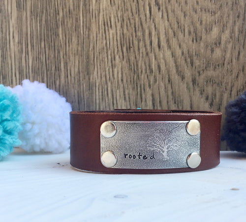 Rooted Leather Cuff