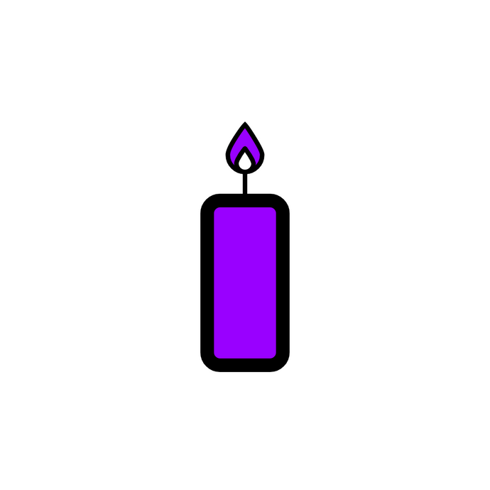 ♒ Purple Candles