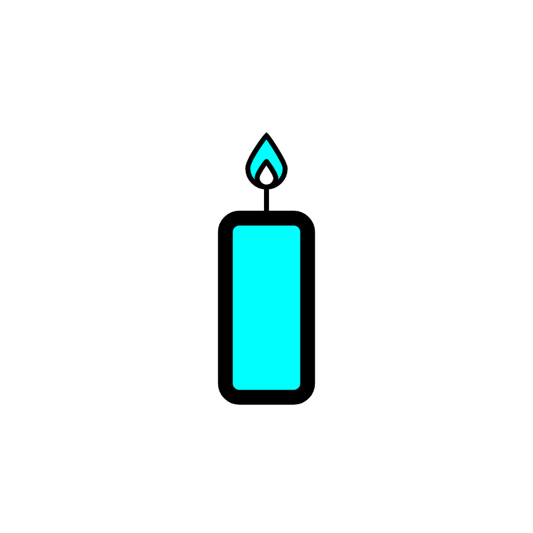 ♐ Blue Candles