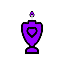 Load image into Gallery viewer, 🜛 Violet Candle of the Kerubim