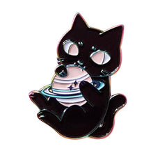Load image into Gallery viewer, 🜪 Saturnian Kitty Pin