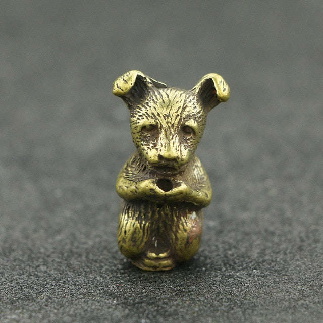 ♎ Brass Dog Figurine