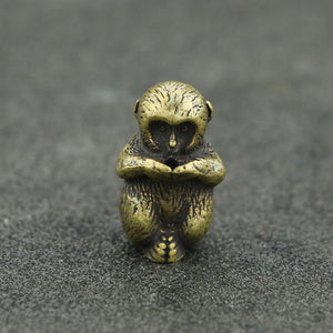 ♌ Brass Monkey Figurine