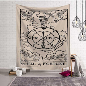 🜩 Wheel of Fortune Tapestry