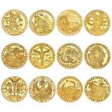 Load image into Gallery viewer, 🜋 Gold Zodiac Coins