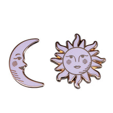 Load image into Gallery viewer, 🜚🜛 Sun & Moon Pins