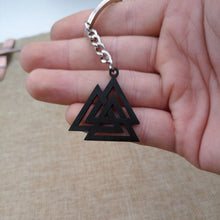 Load image into Gallery viewer, 🜋 Valknut Key Ring