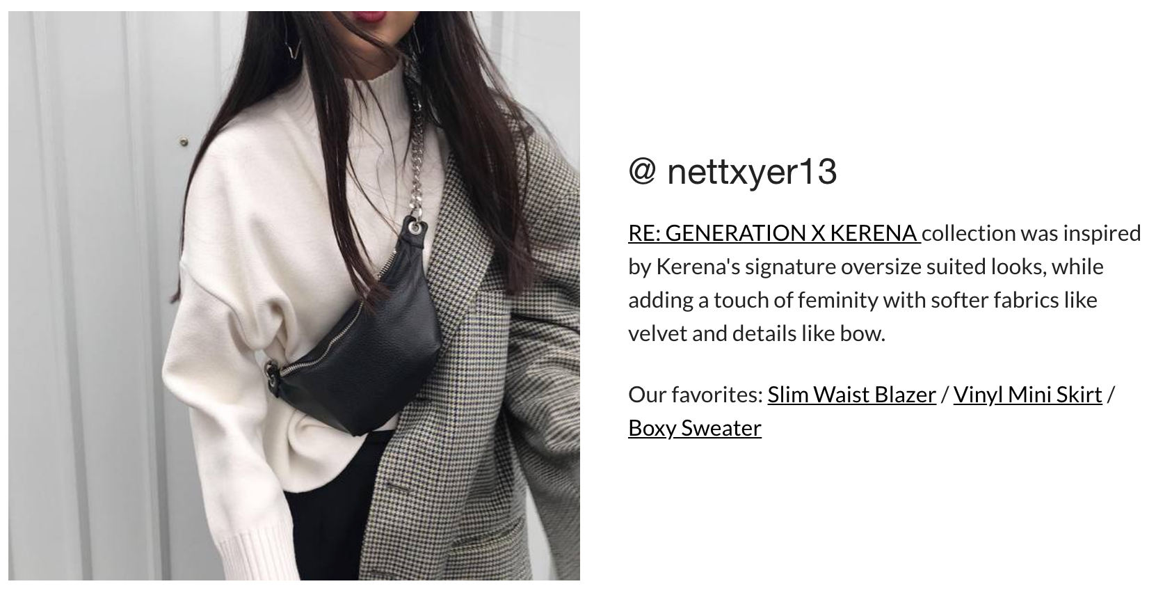 RE: GENERATION X KERENA