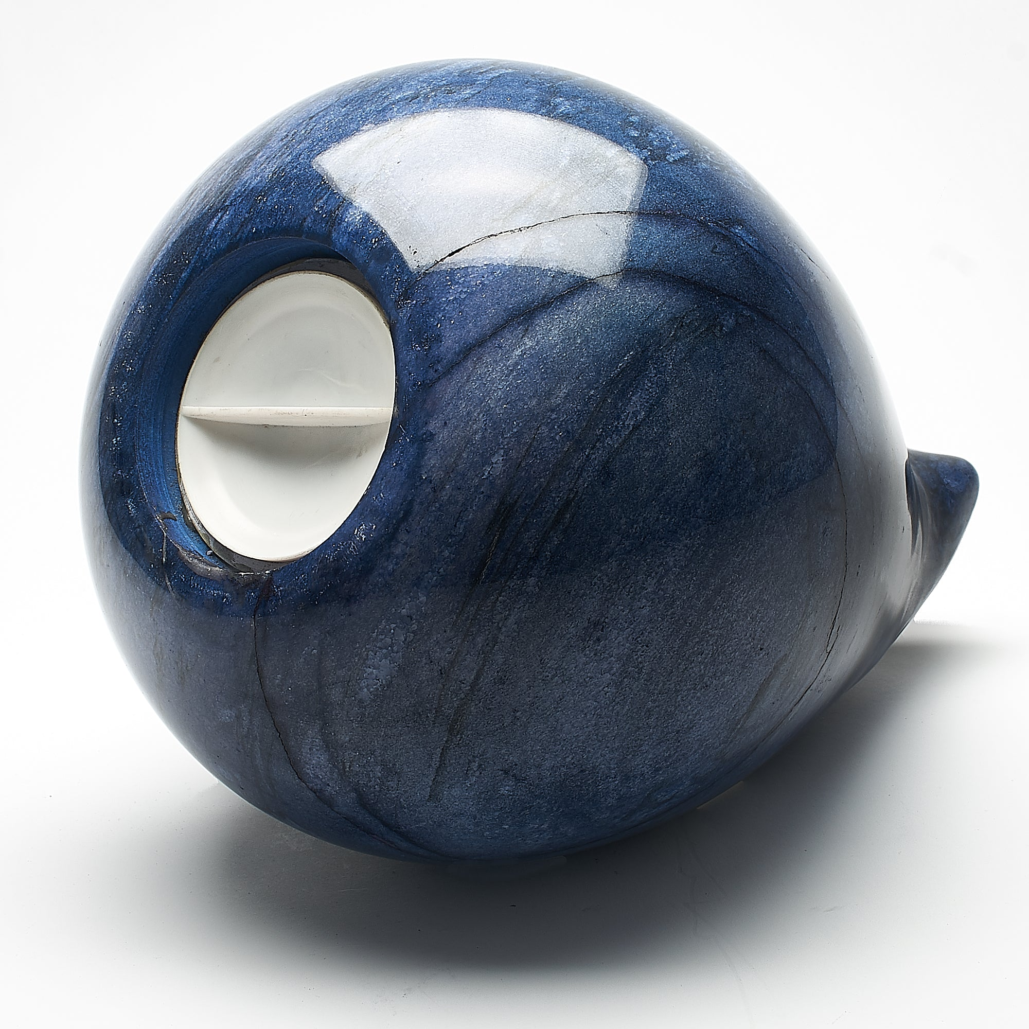 Cremation Urn - Large Luxury Blue Natural Marble Teardrop
