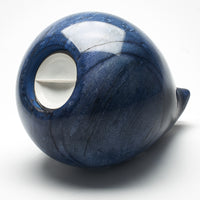 Cremation Urn - Large Luxury Blue Marble Teardrop