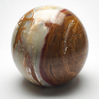 Cremation Urn - Large Luxury Marble Gray Caramel Sphere