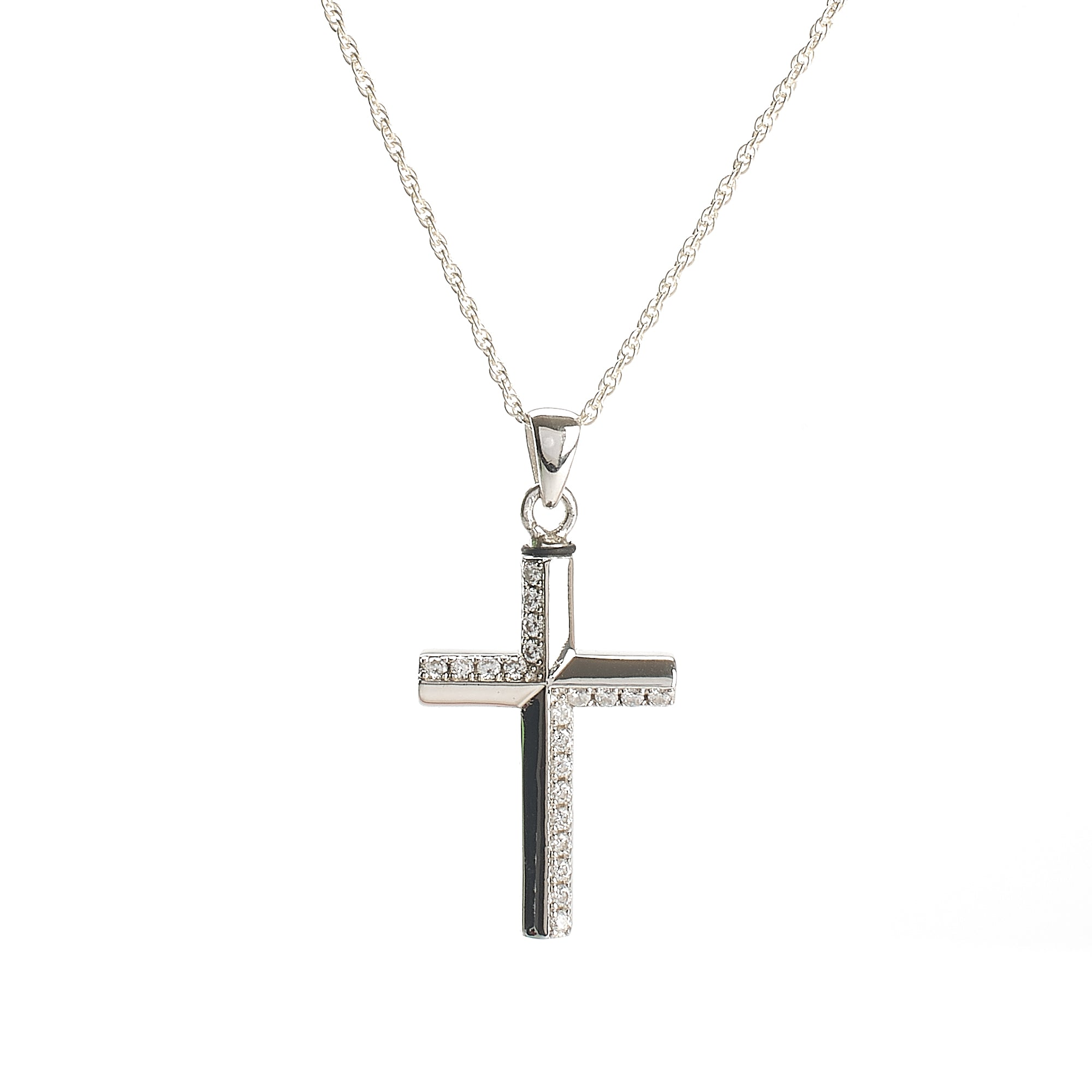 Cremation Pendant - 925 Sterling Silver Cross