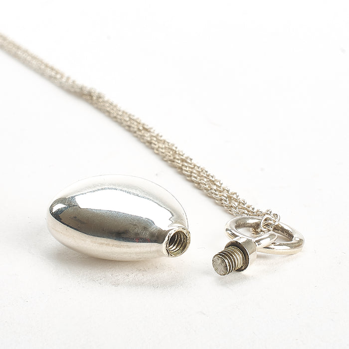 Cremation Pendant - 925 Sterling Silver Tear Drop