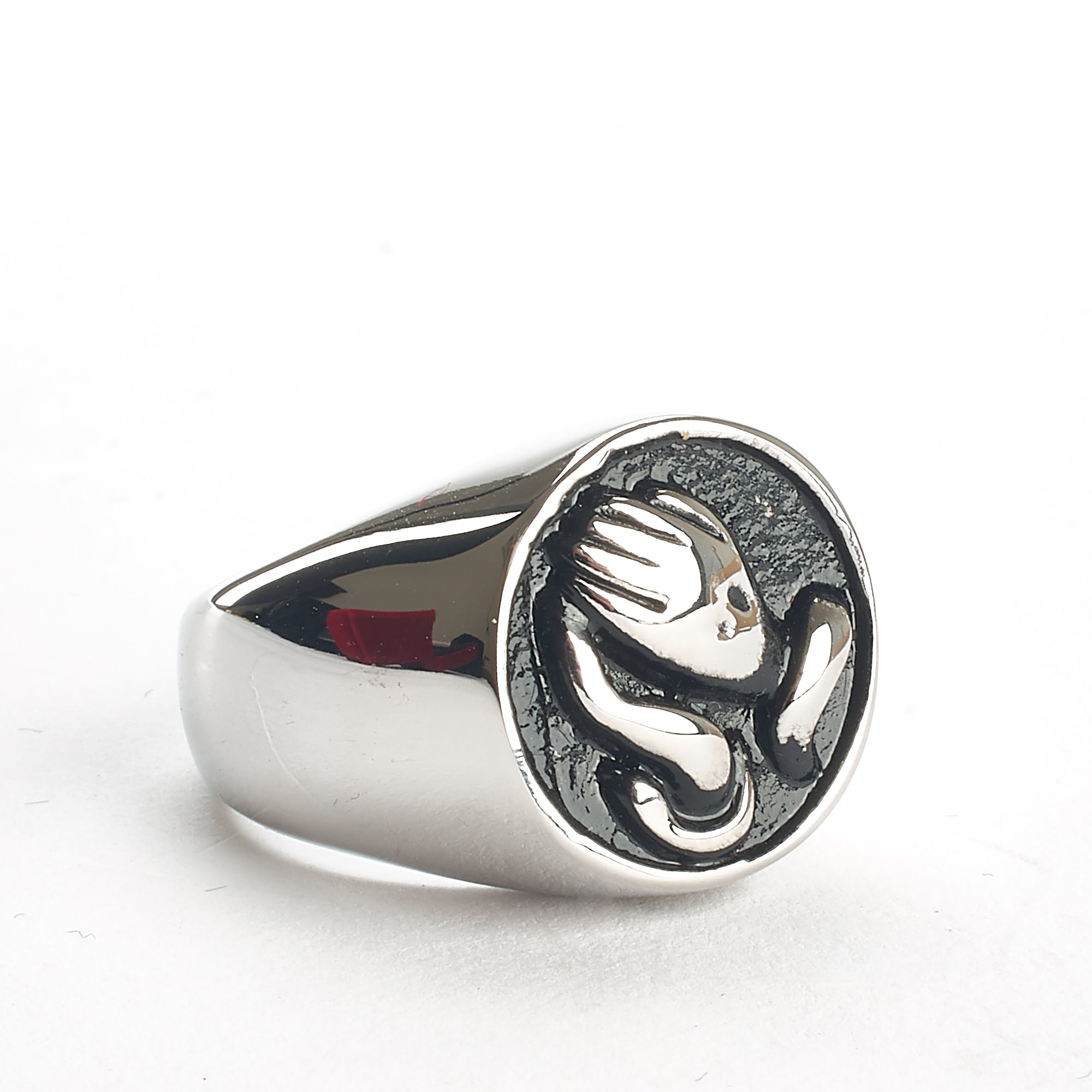Cremation Ring - Silver with Praying Hands