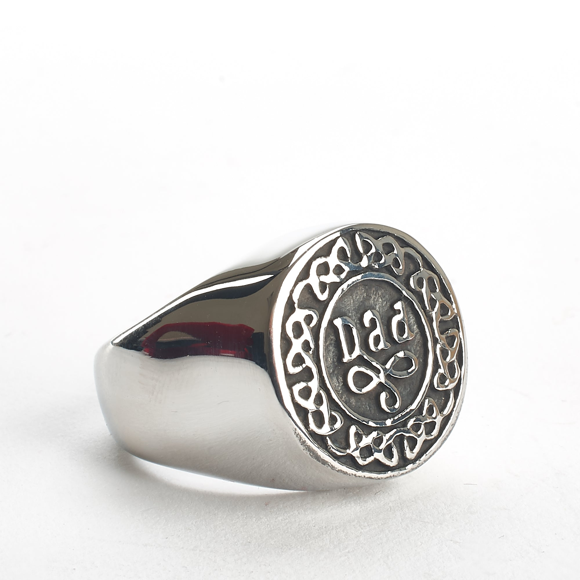 Cremation Ring - Family - Silver with Celtic Filigree - Dad