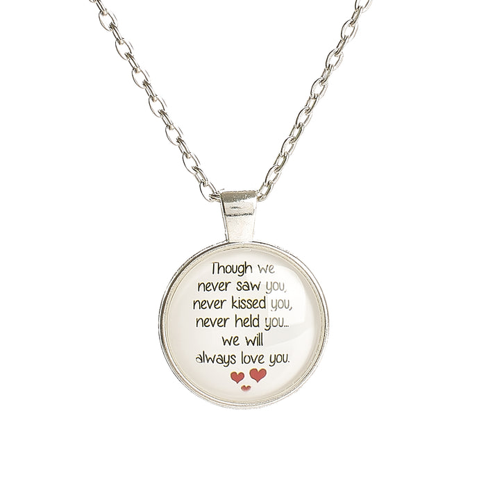 "Memorial Pendant - Miscarriage ""Though we...."