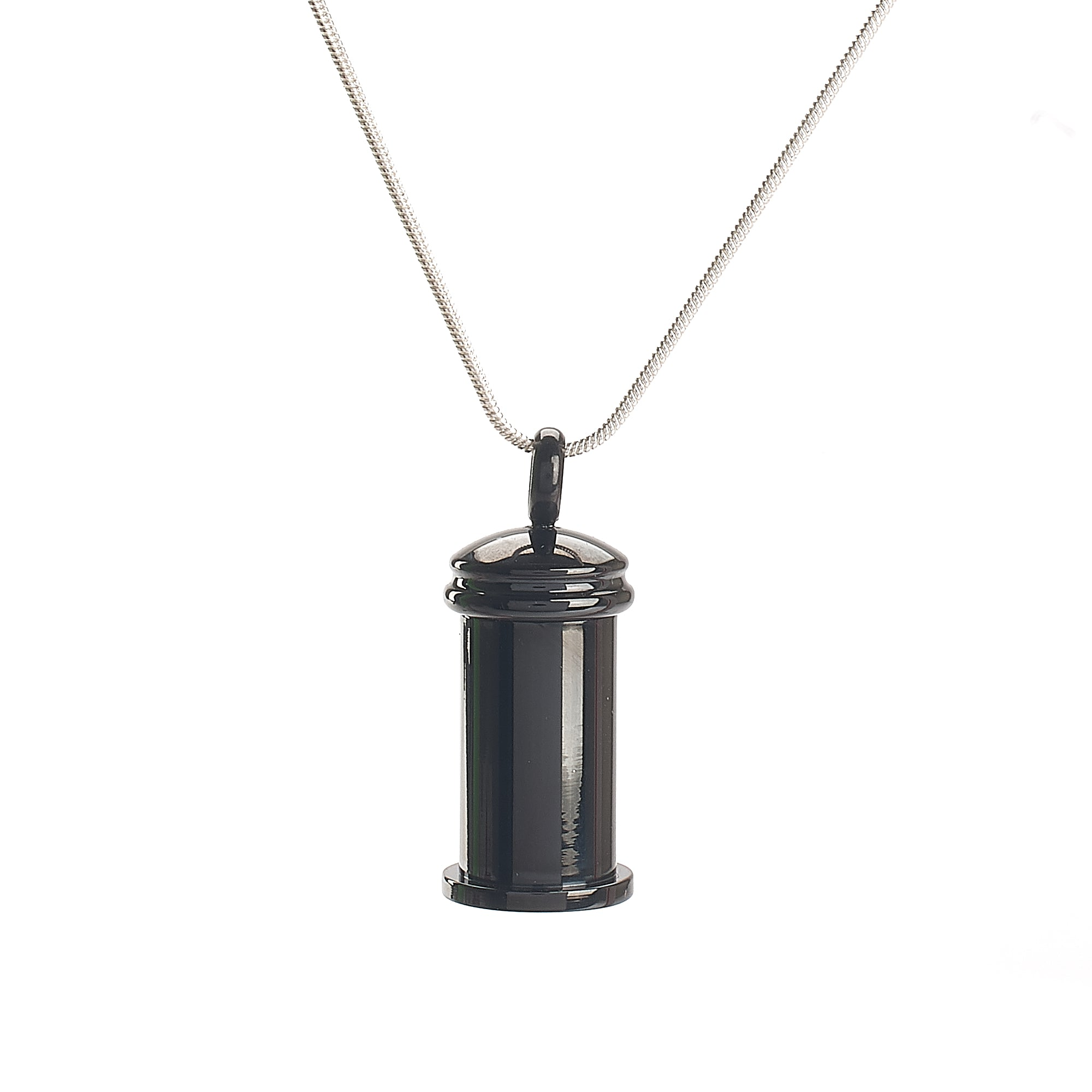 Cremation Pendant - Column - Black - Premium