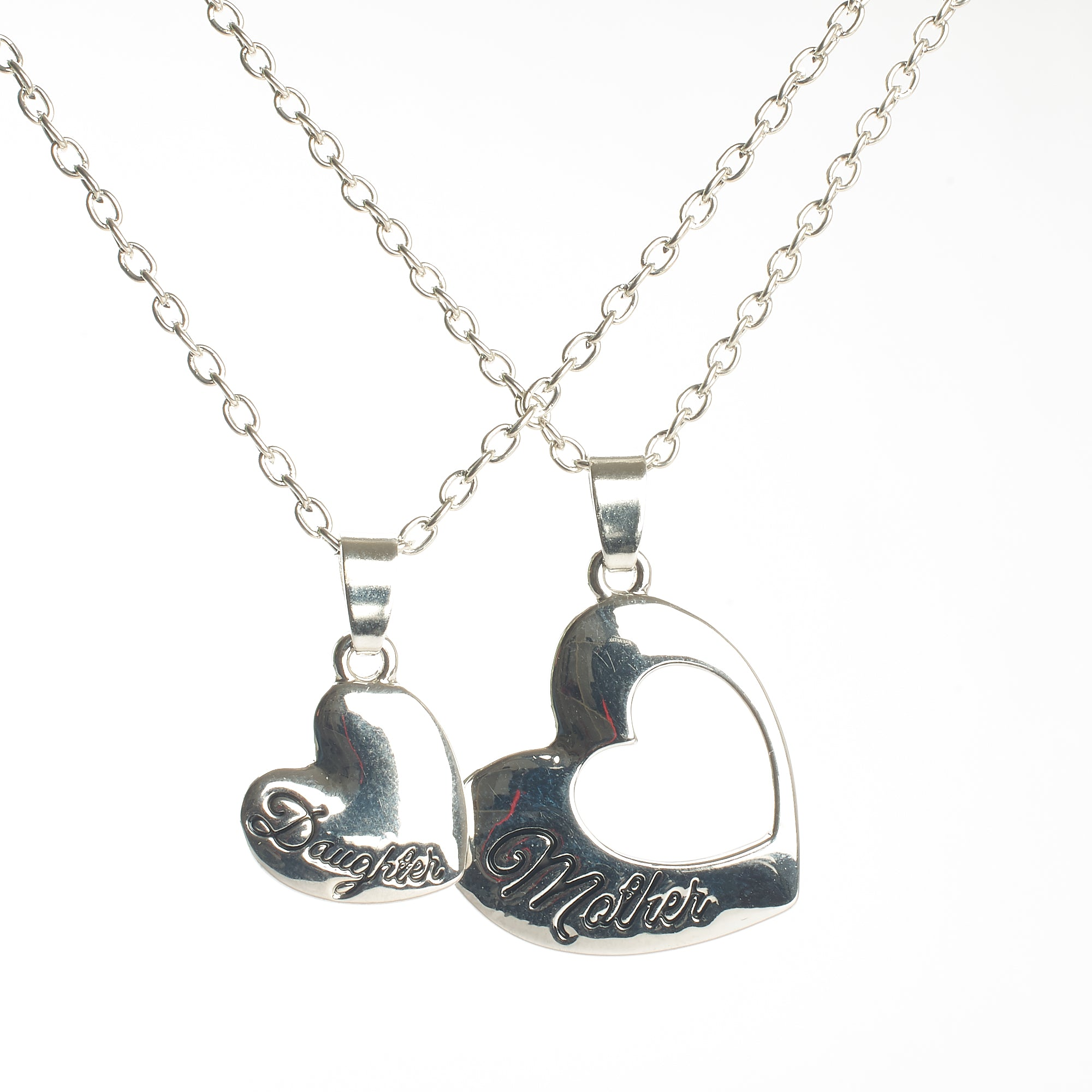 Memorial Pendant - Mother and Daughter Heart Fixture