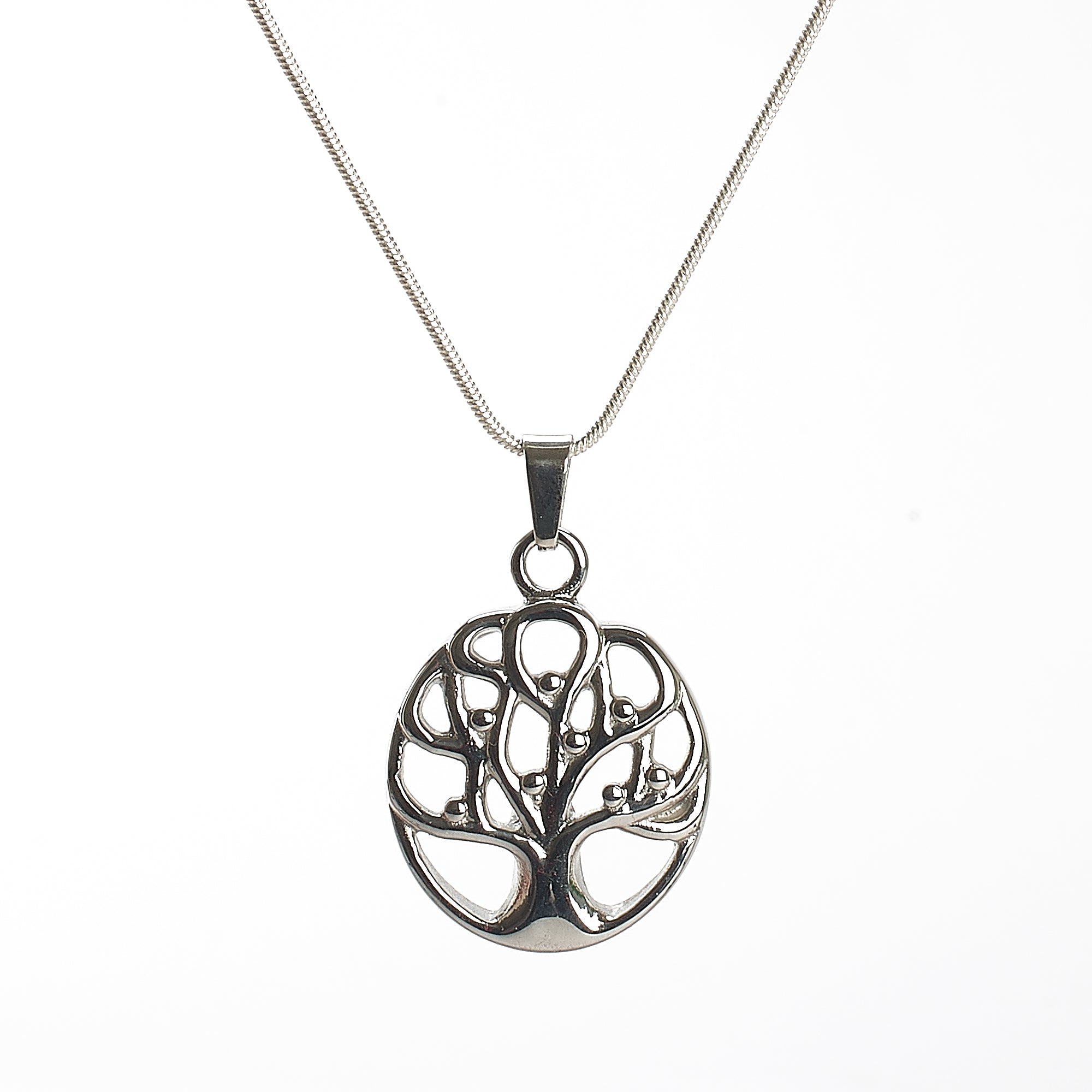 Cremation Pendant - Tree of Life - Hollow Celtic