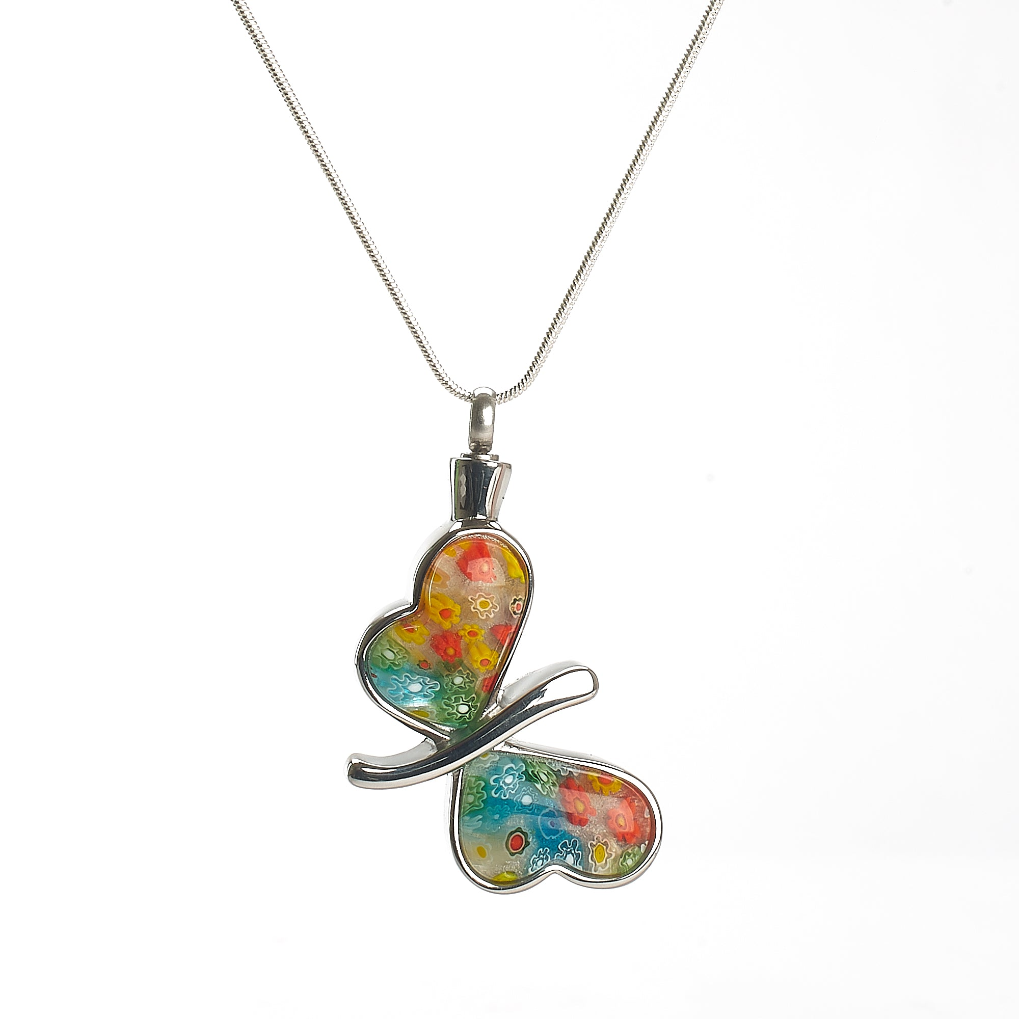 Cremation Pendant - Murano Glass Butterfly